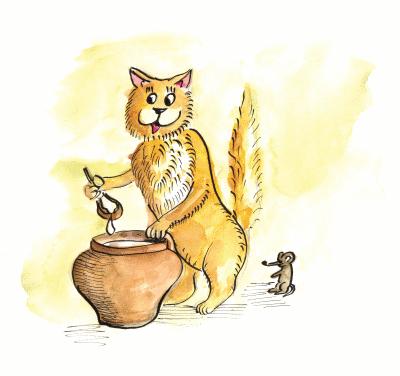 """""""Веселі гостини"""" – вірш про котика"""