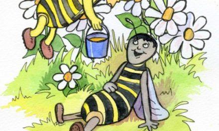 Бджола й оса – вірш про бджолу
